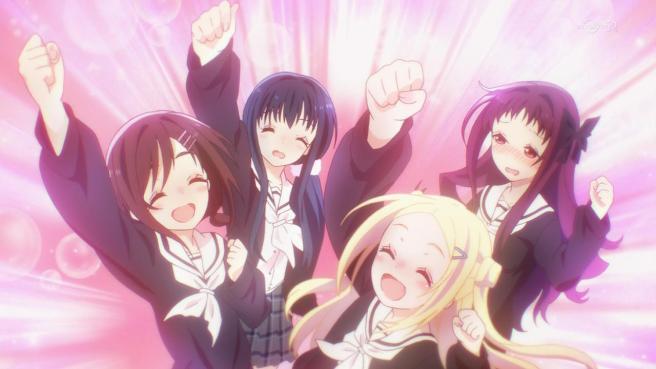 hanayamata-05-naru-tami-hana-yaya-yosakoi_club-celebration-victory-excited-cheer